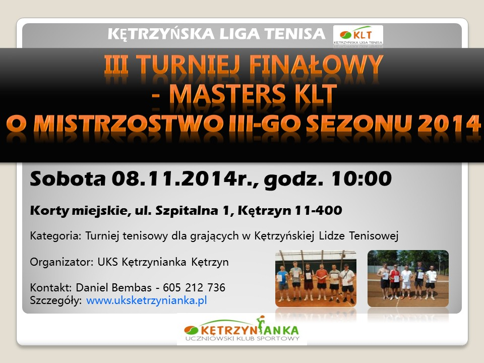 20141108 UKS Kętrzynianka - III Finał KLT - Komunikat